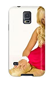 Tpu Fashionable Design Ashley Tisdale Spanish Red Sleeveless Rugged Case Cover For Galaxy S5 New