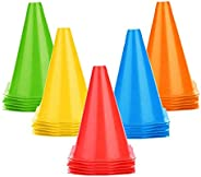 25 PCS Soccer Cones Disc Cone Sets for Training, Field Cone Markers Football, Kids, Sports
