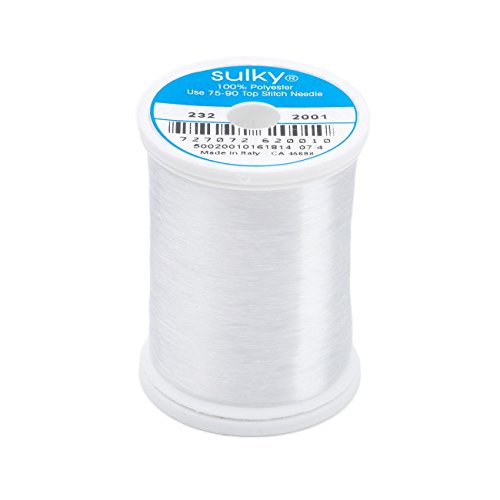 Plastic Thread - Sulky Premium Invisible Thread for Sewing, 2200-Yard, Clear
