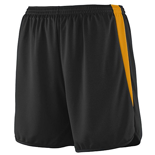 Augusta Sportswear MEN'S VELOCITY TRACK SHORT M Black/Gold price