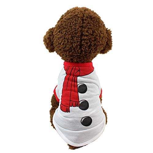 JHKSO Christmas Pullover Hoodies Dog Clothes Santa Pet Dog Cat Polyester Shirt Casual Puppy Sweater Clothes