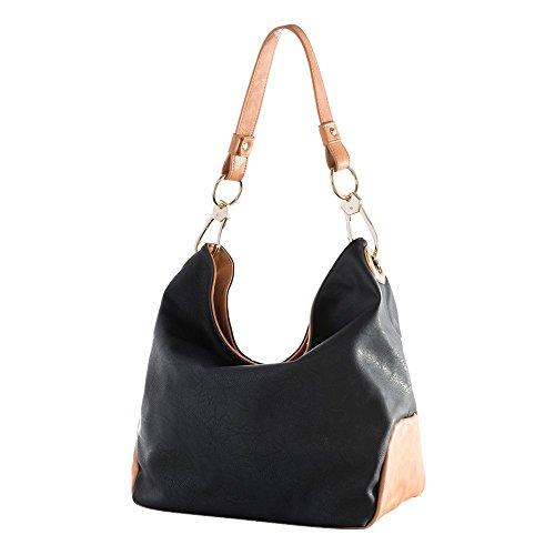 'caba' Black Hobo Bag By Shiraleah S-01-27-433