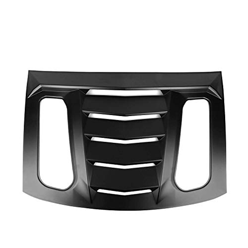Window Louvers Compatible With 2016-2020 Chevy Camaro | IKON V2 Style ABS Plastic Rear Window Louver Sun Rain Guards Vent Deflector By IKON MOTORSPORTS | 2017 2018