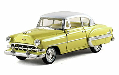 - 1954 Chevy Belair Hard Top, Yellow - Arko 35411 - 1/32 Scale Diecast Model Toy Car