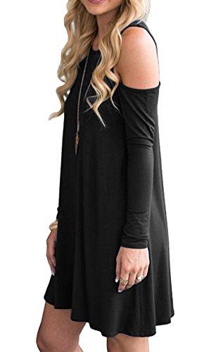 large Neliuya RobeTrapze Sleeve black 0 X long Femme k80wnXOP
