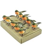 10PCS Robin Bird Christmas Tree Decoration Craft Very Cute Artificial Feather