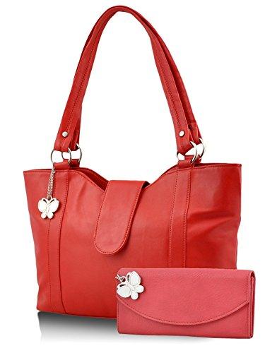 Butterflies Women's Handbag 10 x 13 x 3.5 Red by Butterflies