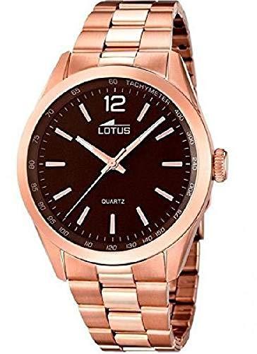 fed3b349dcd5 Lotus Reloj Analógico para Hombre de Cuarzo con Correa en Acero Inoxidable  18148 2  Amazon.es  Relojes