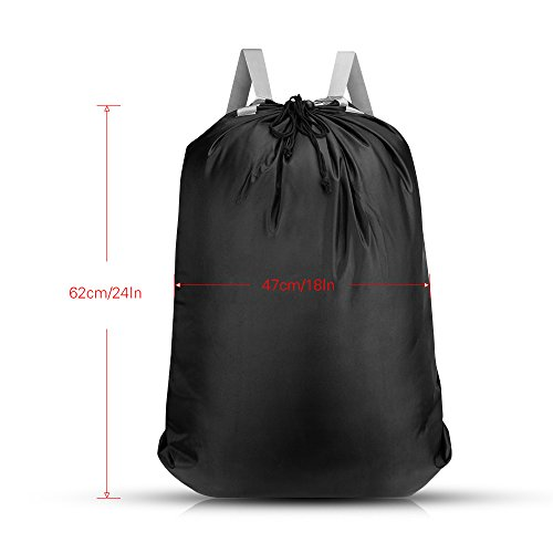KHTD Laundry Bag 24'' x 32'' Inch, Large Laundry Backpack with Strong Adjustable Shoulder Straps for College Students Apartment Dorm-Room by KHTD (Image #1)