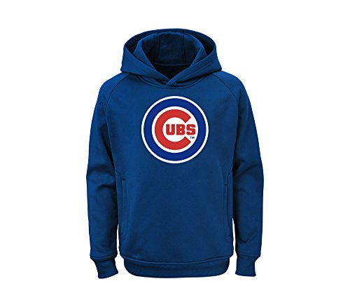 OuterStuff MLB Youth Team Color Performance Primary Logo Pullover Sweatshirt Hoodie (X-Large 18/20, Chicago (Chicago Cubs Pullover)