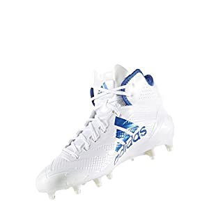 Adidas Adizero 5Star 6.0 Mid Cleat Men's Football 11 White-Collegiate Royal-Collegiate Royal