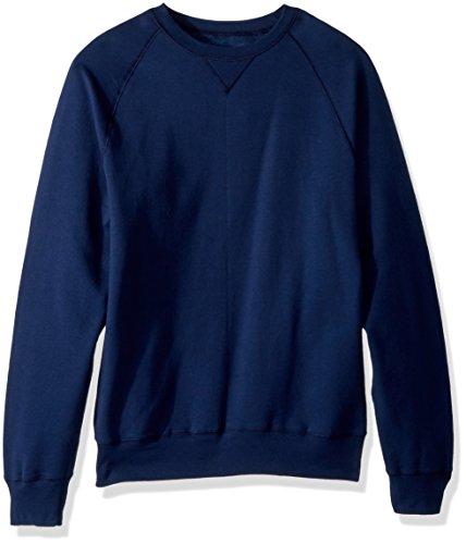 Hanes Men's Nano Premium Lightweight Fleece Sweatshirt, Navy, 2X Large
