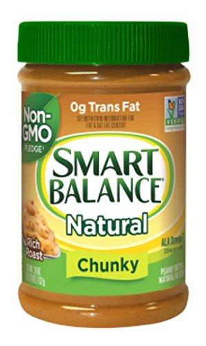 Smart Balance Omega Natural Peanut Butter w/Flax Oil, Chunky, 16 Ounce