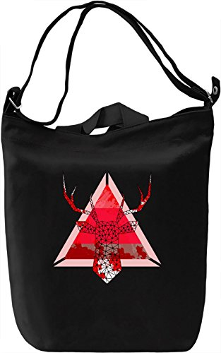 Redd Deer Borsa Giornaliera Canvas Canvas Day Bag| 100% Premium Cotton Canvas| DTG Printing|