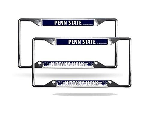 Rico Penn State Nittany Lions NCAA Chrome (2) EZ View License Plate Frame Set
