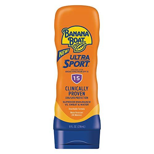 Banana Boat Sport Performance Broad Spectrum Sunscreen Lotion, SPF 15, 8 Fluid Ounce