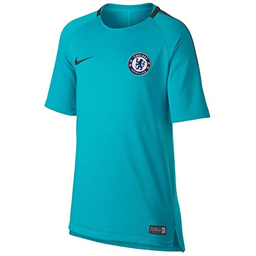 Nike Kids' Chelsea FC NK Squad Top Short Sleeve Soccer Jersey (Youth Large) Omega Blue (Match Training Top Pre)