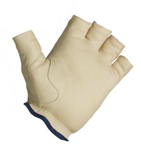Decade 49704 Premium Glove Sport Cuff Half-Finger Right Hand Tan XL