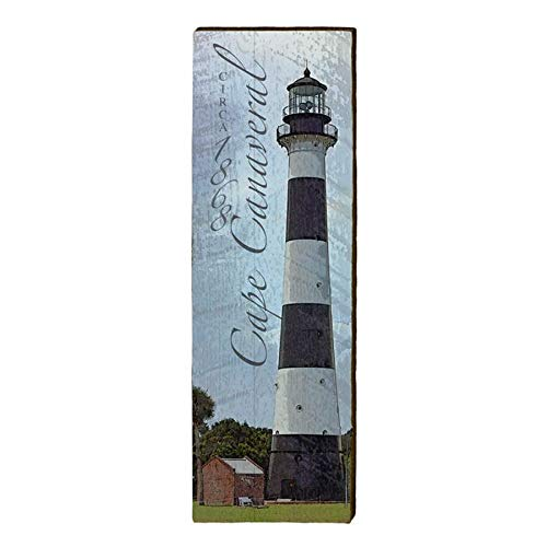 Cape Canaveral Lighthouse Home Decor Art Print on Real Wood (9.5