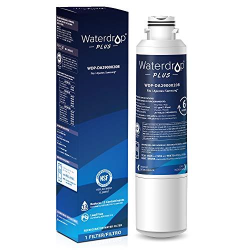 Waterdrop Plus DA29-00020B Refrigerator Water Filter, Compatible with Samsung DA29-00020B, DA29-00020A, HAF-CIN/EXP, 46-9101, Reduces Lead, Chlorine, Cyst, Benzene and More, NSF 401&53&42 Certified