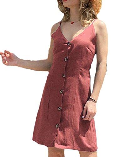 Scivolare Sole Singolo Backless Pattern5 Solido Petto Vestito Cinghie Coolred Colorato donne qWtpAA