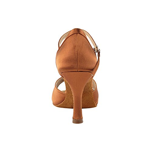 """Gold Taube Schuhe 50 Shades Of Tan Tanzschuhe, Komfort Abendkleid Hochzeit Pumps: Ballroom Schuhe für Latein, Tango, Salsa, Swing, Kunst von Party Party (2,5 """"& 3"""" Heels) 1131 - Dunkelbraun Satin"""