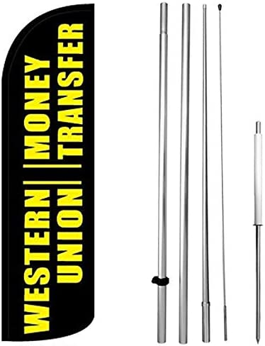 OPEN HOUSE Windless Swooper Flag Kit 15/' Feather Banner Sign  bq-h