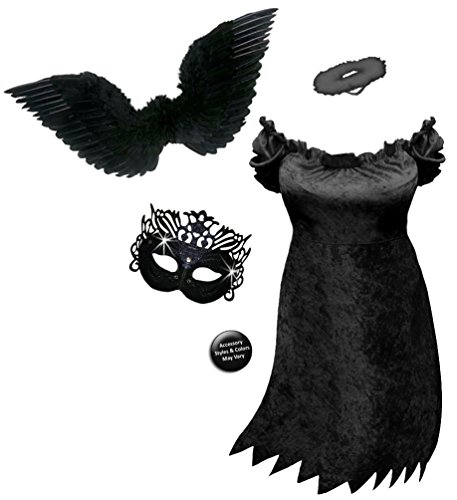 Sexy Dark Fairy Angel Plus Size Supersize Halloween Costume Basic Kit (Plus Size Dark Angel Costumes)