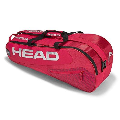 (HEAD Elite 6 Racquet Combi Tennis Bag Red)