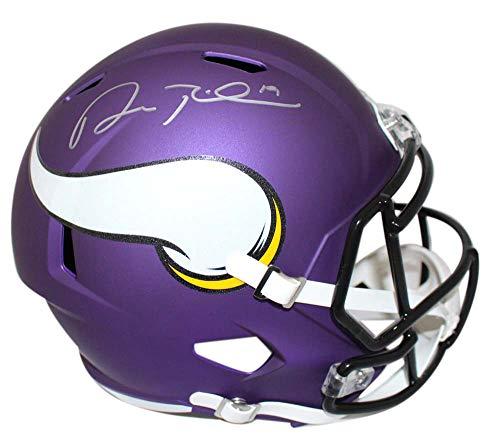 (Adam Thielen Autographed Minnesota Vikings Speed Replica Helmet BAS)