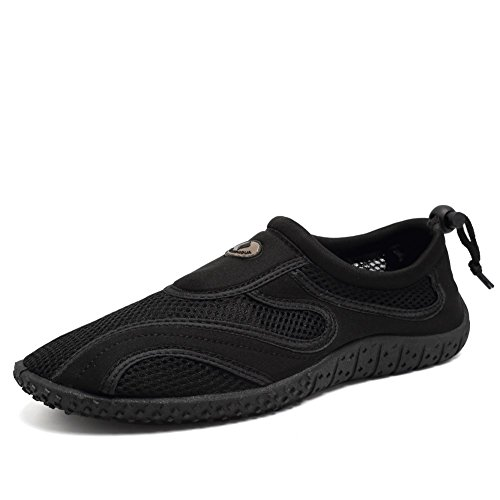 CIOR Fantiny Men and Women Aqua Shoes Quick Drying Water Sports Shoes for Beach Pool Boating Swim Surf Exercise,SATW01,Black,40
