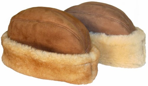 VillageShop Sheepskin Ambassador Hat Medium Stony Tan