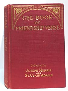 Hardcover The Book Of Friendship Verse Book
