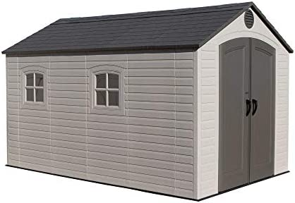 LIFETIME 6402 Outdoor Storage Shed, 8 by 12.5 Feet 2 Windows