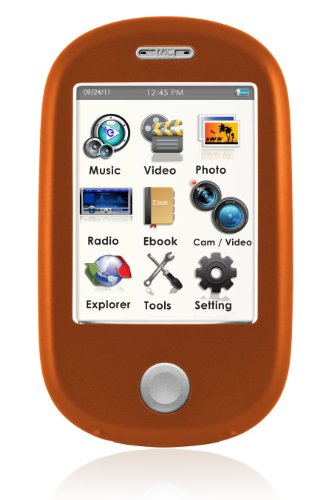 Ematic EM638VIDRG Touch Screen MP3 Video Player with 5MP Camera with LED Flash and Video (Ematic E6)