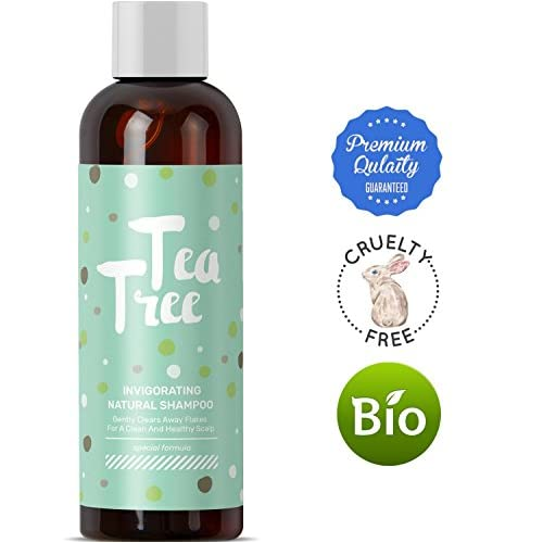 Pure Tea Tree Oil Daily Shampoo Cleanser For Itchy Dry Scalp And