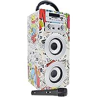 DYNASONIC - Altavoz Bluetooth Portatil Karaoke con Micrófonos Incluidos   Lector USB y SD, Radio FM Modelo 025 (1…