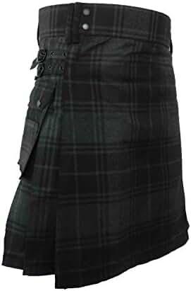 UTKilts Men's Gray Highlander Tartan Utility Kilt