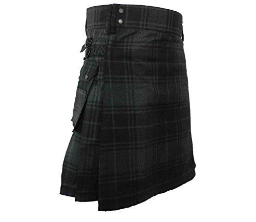 UTKilts Men's Gray Highlander Tartan Utility Kilt (38) by UT Kilts