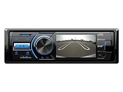 JVC KD-X561DBT 1-DIN DAB Media Receiver Farbdisplay inkl Kennzeichen R/ückfahrkamera f/ür BMW 1er E87 5T/ürer 2004-2007 schwarz