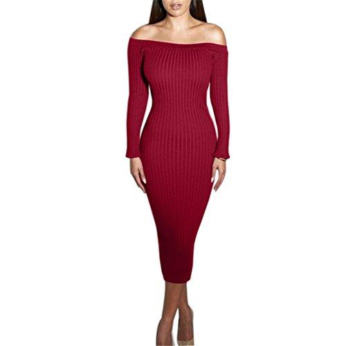one shoulder red dress ebay - 4