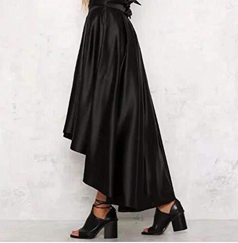 Femmes pour Longue Keephen Mode Noir Lacets Irrgulire la Jupe Jupe 1SXWWPIn