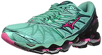 Mizuno Women's Wave Prophecy 7 Running Shoe, Billard/Pacific, 6 B US