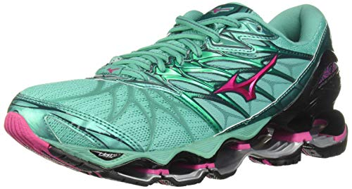 Mizuno Wave - Mizuno Women's Wave Prophecy 7 Running Shoe, Billard/Pacific, 9 B US