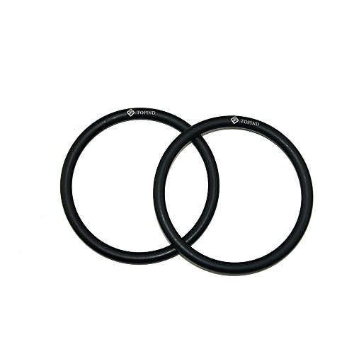 Topind 3'' Large Size Aluminium Baby Sling Rings for Baby Carriers & Slings of 2 pcs (Black) by Topind