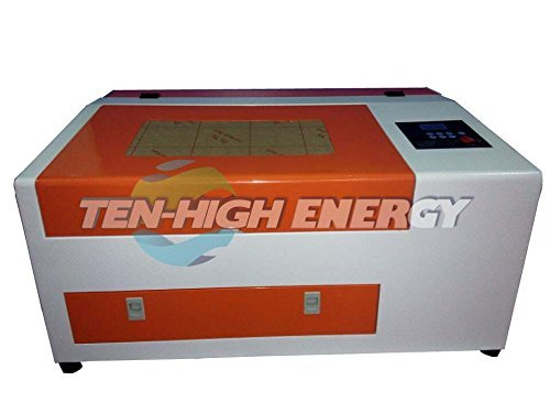 TEN-HIGH Upgraded Version CO2 40W 110V 300x400mm Laser Engraving Cutting Machine with USB port