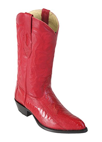 Ostrich Red Genuine Los Leather Western J Leg Men's Altos Boots Toe 1q1SHyRxwY