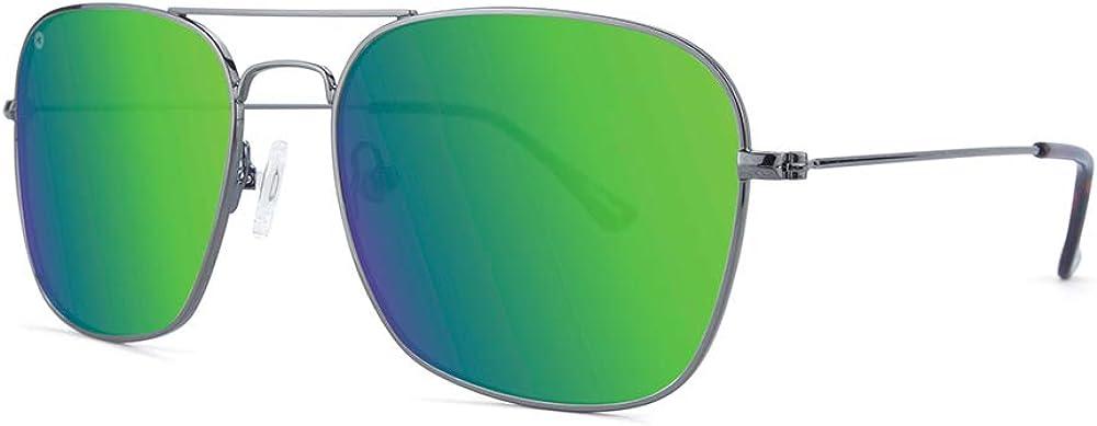 Knockaround Mount Evans Polarized Square-Shaped Aviator Sunglasses For Men & Women, Full UV400 Protection