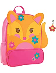 Stephen Joseph Girls Sidekick Fox Backpack and Flower Zipper Pull - Kids Book Bags