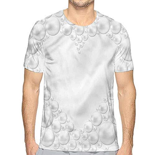 Mens t Shirt Pearls,Pearls in Heart Shape HD Print t Shirt XL
